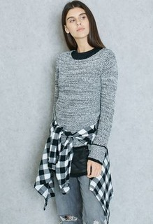 Ginger Contrast Trim Sweater