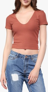 FOREVER 21 Rust Knitted Top