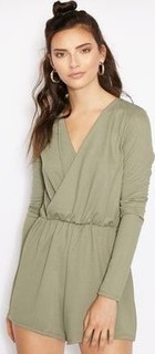 Missguided Plunge Wrap Playsuit