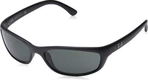 Ray Ban New Authentic Ray-Ban Active Lifestyle RB 4115 601S 71 57mm Matte Black Green Small