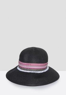 Sara Arabia Straw Bucket Hat - Black