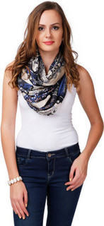 Shubhangini Fashion Printed Scarf, Navy Blue