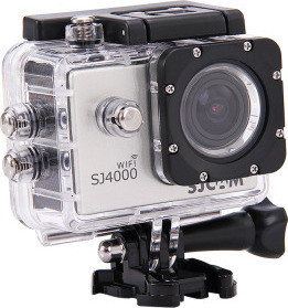 SJCAM SJ4000 Full HD WiFi Sports Action and Camera with 15 Accessories 12 MP, Silver