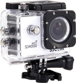 SJCAM SJ4000 Full HD WiFi Sports Action and Camera with 15 Accessories 12 MP, White
