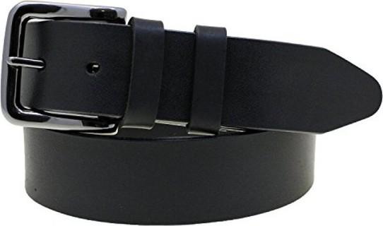 Orion Leather Mens 1 1 2 Plain Black Latigo Leather Belt Black Buckle Made In America Size 34