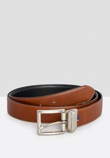 TOMMY HILFIGER Premium Reversible Leather Belt - Brown Black