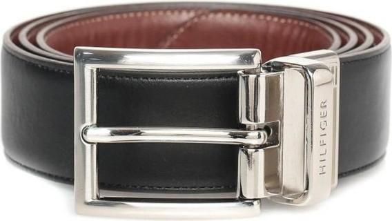 Tommy Hilfiger 11TL08X013 Black Reversible Dress Belt For Men's 199