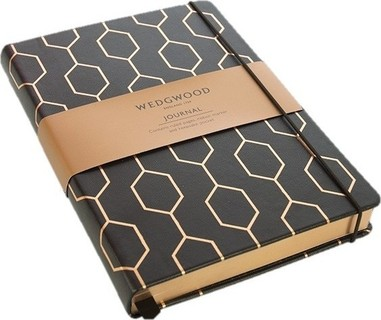 Portico Design Portico Wedgwood Collection Foiled Pu A5 Journal, Black