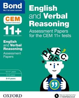 Bond 11+ Cem Eng & Verbal Reasoning Assess Pprs: 8-9 Years