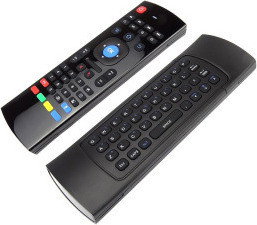 Etrends 2.4G Wireless Keyboard Mouse with Built-In Mic REM-MX3M-B, Black