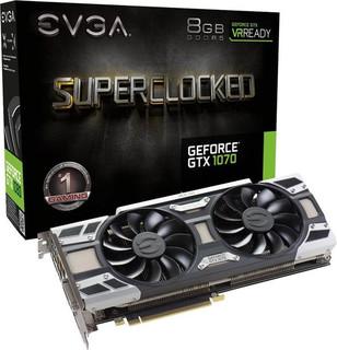 EVGA GeForce GTX 1070 SC GAMING ACX 3.0, 8GB GDDR5 (256 Bit), HDMI, DVI, 3xDP