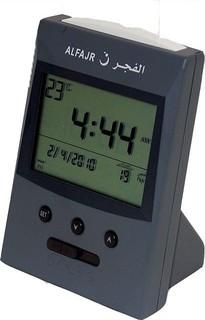 Al Fajr Wide View Angle LCD Table Clock Silver - 70-CS-03 149