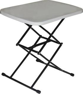 In-House Multi Function Adjustable Folding Table Black & White - FS-3644