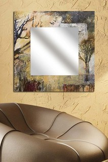 Mirror Art Square Wall Mirror for Living Room