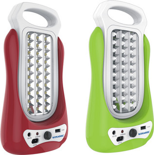 Sonashi Rechargeable Led Lantern (With Mobile Charging Function) Red - SEL-690