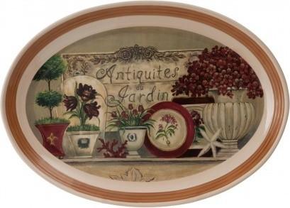 Garden Banquet Oval Plate