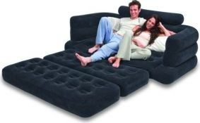 Intex Two Person Inflatable Pull Out Sofa Bed With Electric Quick Pump 220 V