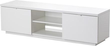 BYAS TV bench, high-gloss white