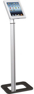 iPlay Anti-Theft Tablet Floor Stand Silver Black
