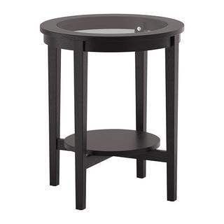 MALMSTA Side table, black-brown