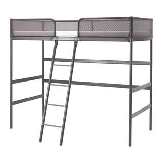 TUFFING Loft bed frame, dark grey