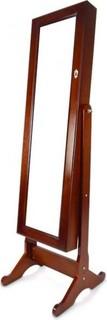 Class Mirrored Jewelry Cabinet, Walnut, CL13355BR
