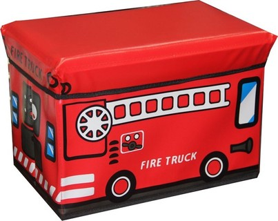 In-House 3648-Red Storage Box Stool-Wagon Bus
