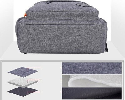 Shaolong Portable Shoulder laptop Backpack - Grey