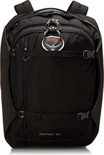 Osprey Packs Osprey Porter Travel Duffel Bag, Black, 30-Liter