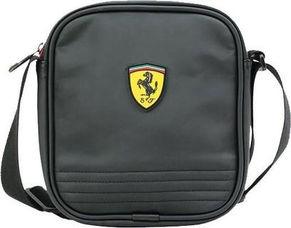 Ferrari Polyurethane Bag For Unisex , Black - Crossbody Bags