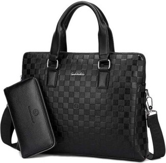Leather Laptop Bag For Men Business Casual Series High Quality