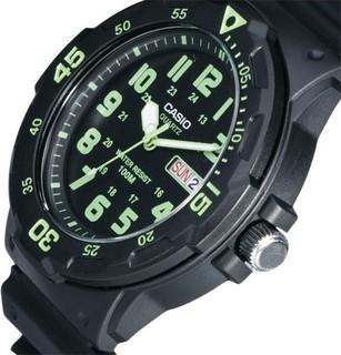 Casio Men's Black Dial Resin Band Watch - MRW200H-3BV