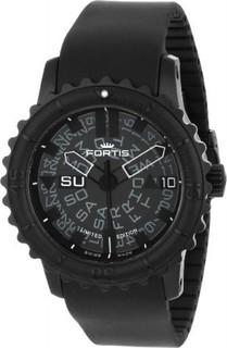 Fortis Men's 675.18.81 K B-47 Big Automatic Black PVD Rotating Bezel Rubber Watch