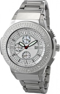 JBW Silver Stainless White dial Chronograph for Men [Jb-6101-b]