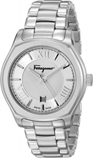 First SBF Holding Inc. Salvatore Ferragamo Men's FQ1940015 Lungarno Analog Display Quartz Silver Watch
