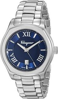 First SBF Holding Inc. Salvatore Ferragamo Men's FQ1960015 Lungarno Analog Display Quartz Silver-Tone Watch