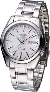 Seiko Analog 5 Automatic White Dial Men's Watch Silver - SNKL41J1 335