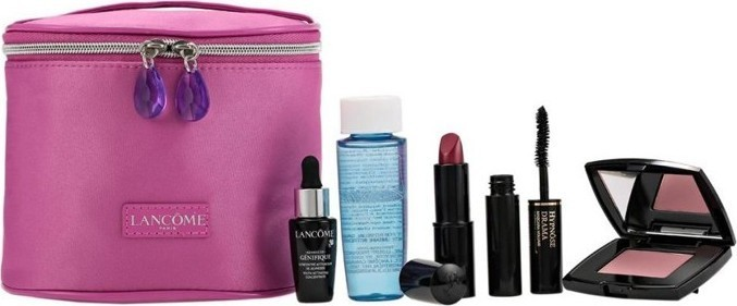 Lanc me Lancome Travel Fuschia Pouch Gift Make Up Set Pink 165