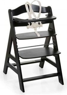 Hauck 661109 Baby High Chair Alpha Black Washed
