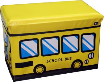 In-House Storage Box stool-School Bus, Yellow [3648Y]