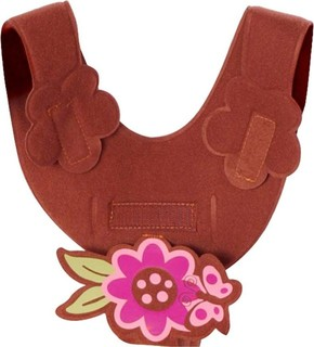 Bebe Brown Butterfly Bottle Sling Brown