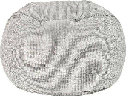 FatSak Soft Ripple Bean Bag - Moon Grey
