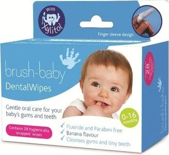 Brush Baby Dental Wipes - Pack of 28 Pcs