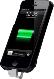 Mili Power Spring 5 2200 mAh External Battery Case for iPhone 5 5s - Black
