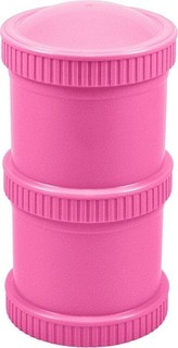 Re-Play - Double Snack Stack - Bright Pink