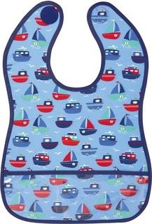 JoJo Maman B b Deluxe Sleeveless Bib - Boat Print