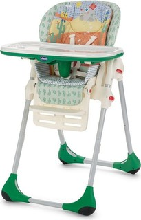 Chicco Polly 2 In 1 High Chair Canyon Green With 4 Wheels