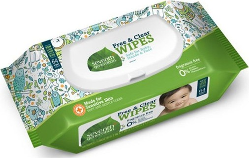 Seventh Generation Free And Clear Baby Wipes Widget (4 Packs)