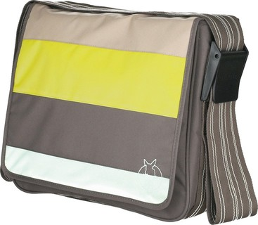 Lassig - Casual Messenger Bag - Stripes Sulphur