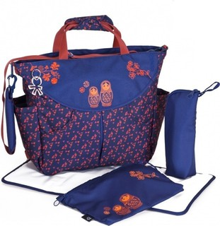 Okiedog Matrushka Diaper Bag - Sumo, Blue Red